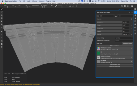 Baked Curvature Map in Substance Painter