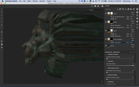first crack at a Substance Painter material from scratch. WIP.