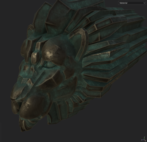WIP painting the patina mask